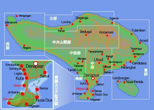 バリ島地図M